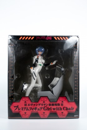 Rei Ayanami Figure Evangelion Premium Figure Girl with Chair Sega