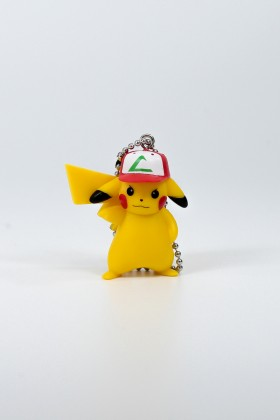 Pikachu keychain with Ash cap Pokemon