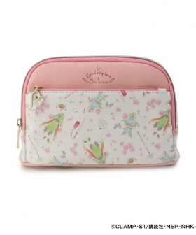 "Cosmetics pouch ""Card Captor Sakura Clear Card Edition"" in pink"