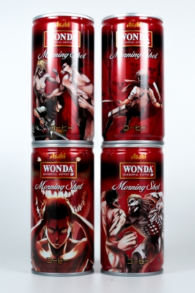 Attack On Titans Wonda Coffee Morning shot cans